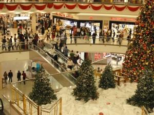 Natale a Dubai, centro commerciale...